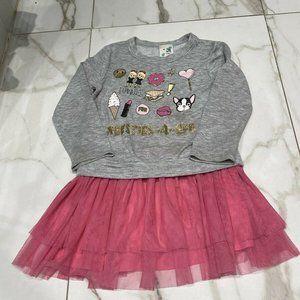 Lily Bleu Girl's Grey With Pink Tutu size 5